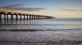 黎明赫维海湾跳船澳大利亚 库存图片