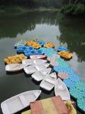 明轮船 库存图片
