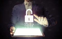 明锁,安全概念 库存照片