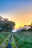 黎明雾和光  免版税库存图片