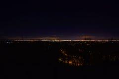 黎明,与树,星,行星, NJ宽NY 免版税库存图片