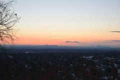 黎明, NYC,从NJ 库存图片