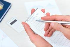 明年计划的名单 免版税库存图片