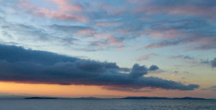 黎明cloudscape 免版税库存图片