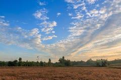 黎明Cloudscape  库存照片