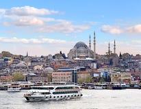 黄昏伊斯坦布尔 库存照片