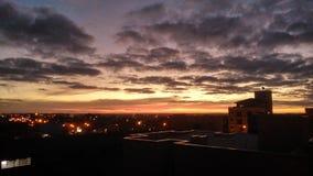 黄昏在巴西 库存照片