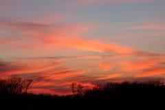 黄昏在Lakeville 免版税图库摄影