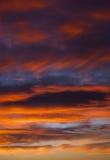 黄昏天空和云彩 免版税库存照片