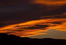 黄昏天空和云彩 免版税库存图片