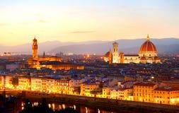 黄昏的佛罗伦萨 免版税库存图片