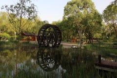 黄昏的北京海淀公园 库存图片