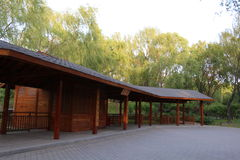 黄昏的北京海淀公园 免版税库存图片