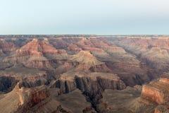 黄昏的大峡谷国家公园 免版税图库摄影
