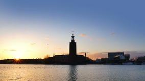 黄昏的斯德哥尔摩市 股票视频