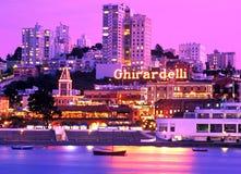 黄昏的旧金山江边 图库摄影
