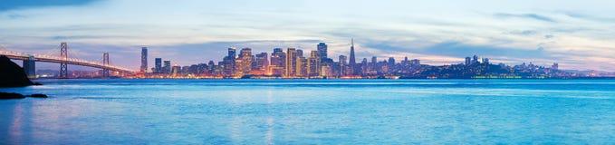 黄昏的旧金山 免版税图库摄影