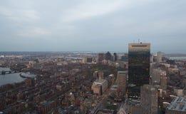 黄昏的波士顿 免版税图库摄影
