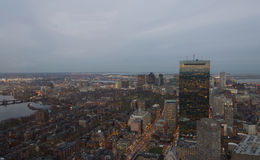 黄昏的波士顿 免版税库存图片