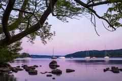 黄昏的湖温德米尔 图库摄影