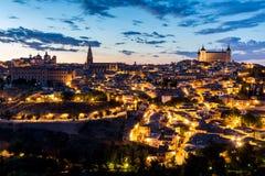 黄昏的西班牙托莱多 免版税库存图片