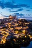 黄昏的西班牙托莱多 图库摄影