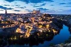 黄昏的西班牙托莱多 免版税图库摄影