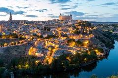 黄昏的西班牙托莱多 免版税库存照片