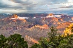 黄昏的,亚利桑那,美国大峡谷国家公园 图库摄影