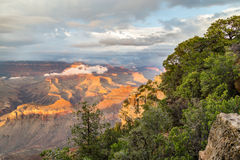 黄昏的,亚利桑那,美国大峡谷国家公园 库存照片