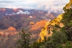 黄昏的,亚利桑那,美国大峡谷国家公园 库存图片