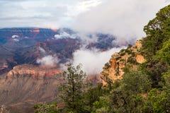 黄昏的,亚利桑那,美国大峡谷国家公园 免版税图库摄影
