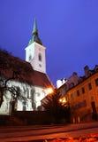 黄昏的St Martins大教堂 免版税库存图片