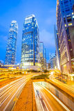 黄昏香港 库存图片