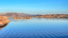 黄昏,日落视图俯视,米德湖全国度假区, NV 库存照片