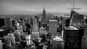黄昏4K UltraHD A美好的timelapse在曼哈顿的心脏黑白的 股票视频