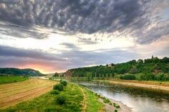 易北河德国河谷 库存照片