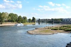 易北河的河床 免版税库存图片