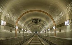 易北河隧道,汉堡,德国 免版税图库摄影