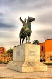 易卜拉欣巴夏雕象在开罗城堡的 免版税库存图片