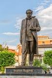易卜拉欣・鲁戈瓦雕象在普里什蒂纳 免版税库存照片