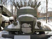 易反应的火炮BM-13 `卡秋沙`作战车辆  免版税图库摄影