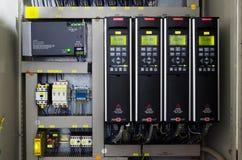 易变的速度推进变换器交换器,电压安定的单位 库存照片