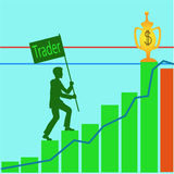 贸易商-得到  向量例证