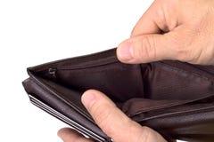 易怒的棕色皮革钱包 免版税库存图片