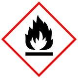 易燃的标志标志 免版税库存图片