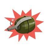 易爆的手榴弹惊奇 向量例证