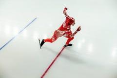 易爆的起动人运动员速度溜冰者 免版税库存照片