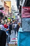 贸易的伊斯坦布尔街道 库存照片