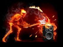 易碎吉他 免版税库存照片
